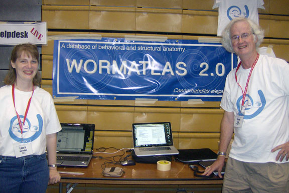 Laura Herndon and David Hall at Worm meeting 2009